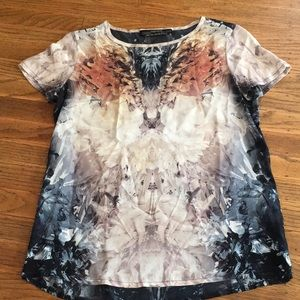 All Saint Silk Printed Top